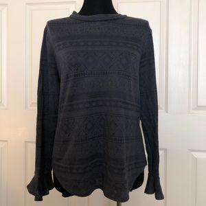 LOFT Gray Long-Sleeved Top